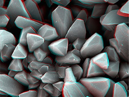 science & technology - 3D SEM image of crystal, 8 degree tilt Stock Photo - Premium Royalty-Free, Code: 649-07063295