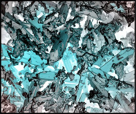 discovery - Indicolite corrosion crystals, inverted color, SEM Stock Photo - Premium Royalty-Free, Code: 649-07063299