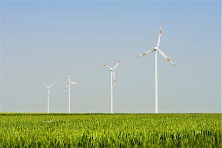 Wind turbines, Selfkant, Germany Stock Photo - Premium Royalty-Free, Code: 649-07063467