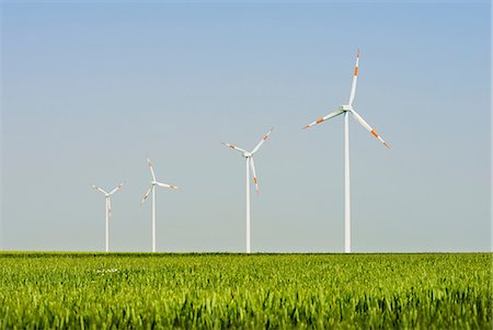 Wind turbines, Selfkant, Germany Stock Photo - Premium Royalty-Free, Code: 649-07063467