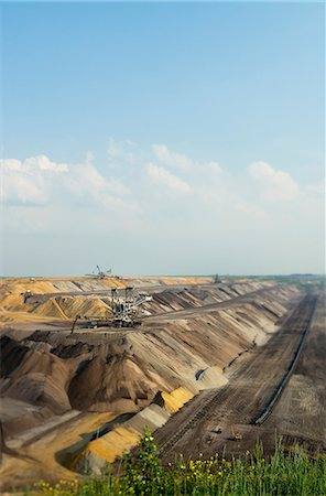 Opencast mine for brown coal, Juchen, Germany Stock Photo - Premium Royalty-Free, Code: 649-07063477