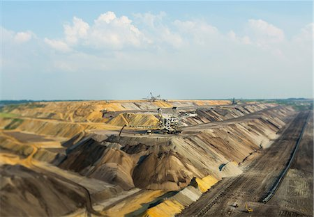 Opencast site for extracting brown coal, Juchen, Germany Stock Photo - Premium Royalty-Free, Code: 649-07063478