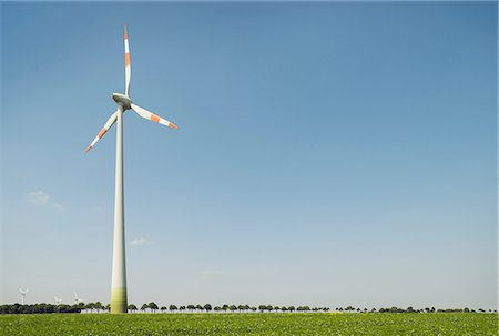 Wind turbine, Selfkant, Germany Stock Photo - Premium Royalty-Free, Code: 649-07063470
