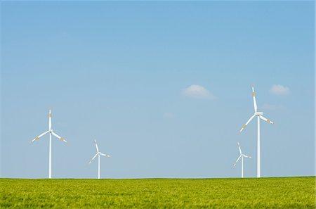 Wind turbines on horizon, Selfkant, Germany Stock Photo - Premium Royalty-Free, Code: 649-07063473