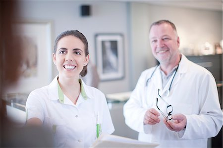 doctor and patient - Candid portrait of doctor and nurse Stock Photo - Premium Royalty-Free, Code: 649-07063878