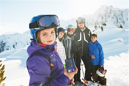 Family of skiers, Les Arcs, Haute-Savoie, France Stock Photo - Premium Royalty-Free, Code: 649-07118126