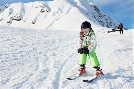Young girl skiing, Les Arcs, Haute-Savoie, France Stock Photo - Premium Royalty-Free, Code: 649-07118132