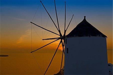 santorini - Windmill, Oia, Santorini, Greece Stock Photo - Premium Royalty-Free, Code: 649-07118322