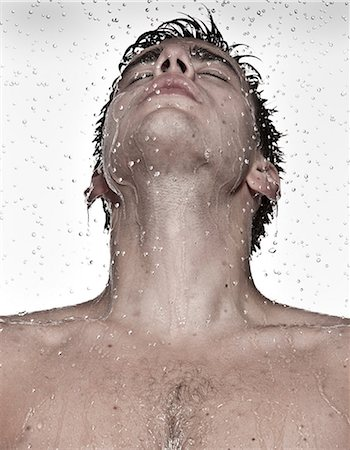 shower - Young man showering Stock Photo - Premium Royalty-Free, Code: 649-07118739