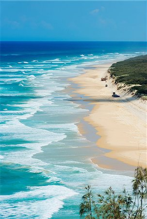 queensland - Seventy-five Miles Beach, Fraser Island, Queensland, Australia Stock Photo - Premium Royalty-Free, Code: 649-07118750