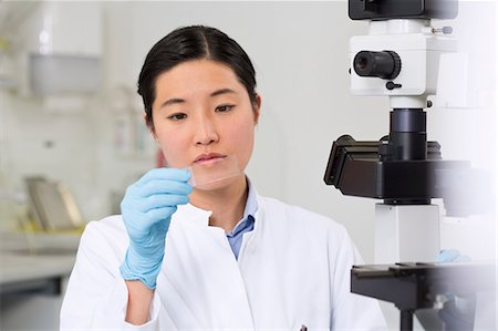 results - Female scientist working in laboratory with microscope Stock Photo - Premium Royalty-Free, Code: 649-07118808