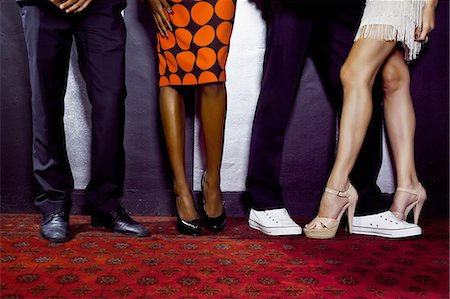 queue club - Waist down shot of two couples Stock Photo - Premium Royalty-Free, Code: 649-07118892