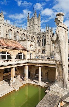 pillar - Roman baths, Bath, Somerset, UK Stock Photo - Premium Royalty-Free, Code: 649-07119066