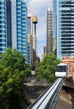 Train on Sydney monorail, Sydney, Australia Stock Photo - Premium Royalty-Free, Code: 649-07119089