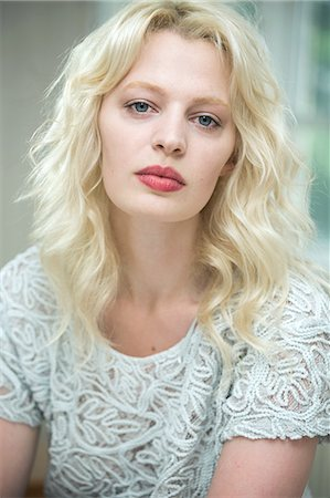 Portrait of a young blonde woman Stock Photo - Premium Royalty-Free, Code: 649-07238235