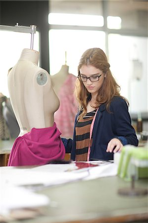 Fashion design student in class Stock Photo - Premium Royalty-Free, Code: 649-07238367