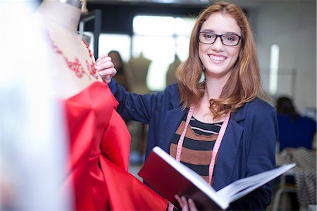 designer (female) - Fashion design students in class Stock Photo - Premium Royalty-Free, Code: 649-07238362