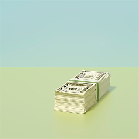 Stack of dollars Stock Photo - Premium Royalty-Free, Code: 649-07238424