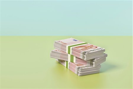Stack of Euros Stock Photo - Premium Royalty-Free, Code: 649-07238425