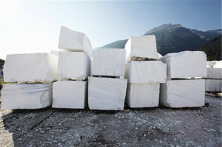 Blocks of marble from quarry Stock Photo - Premium Royalty-Free, Code: 649-07238746