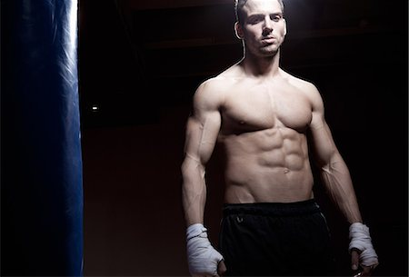 Kick boxer Stock Photo - Premium Royalty-Free, Code: 649-07238774