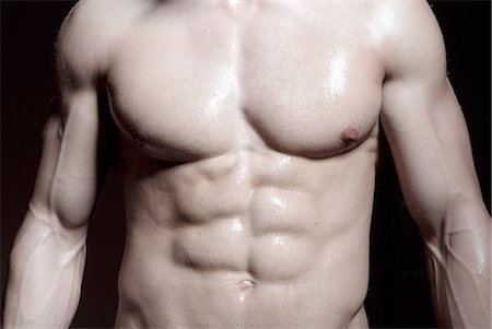Muscular male torso Stock Photo - Premium Royalty-Free, Code: 649-07238777