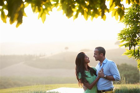exotic outdoors - Couple in embrace Stock Photo - Premium Royalty-Free, Code: 649-07238785