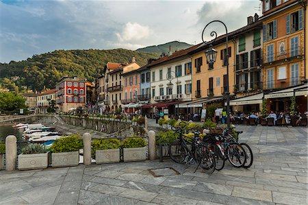 Street cafe's, Cannobio, Italy Stock Photo - Premium Royalty-Free, Code: 649-07239083