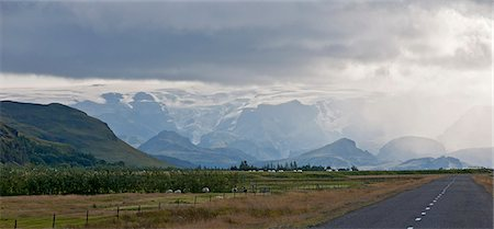 extreme terrain - Myrdalsjokull, Fjallabak, Iceland Stock Photo - Premium Royalty-Free, Code: 649-07239671