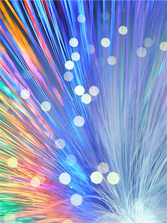 fibre optic - Bundle of fibre optics used to send data Stock Photo - Premium Royalty-Free, Code: 649-07279550