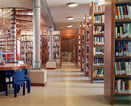 Modern library interior Stock Photo - Premium Royalty-Free, Code: 649-07279691