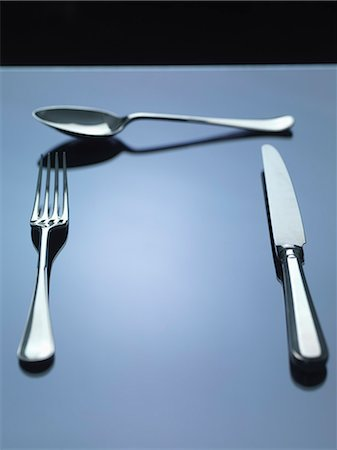 fork - Knife, fork and spoon Stock Photo - Premium Royalty-Free, Code: 649-07279767