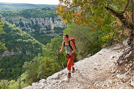 Woman hiking Canyon du Verdon, Provence, France Stock Photo - Premium Royalty-Free, Code: 649-07279969