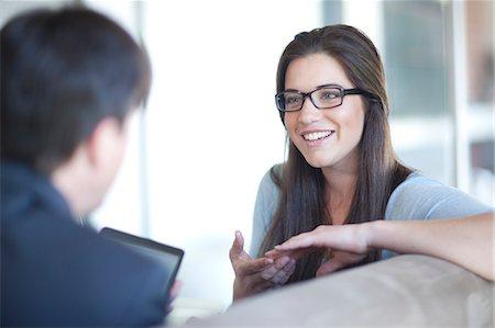 Businesspeople having meeting Stock Photo - Premium Royalty-Free, Code: 649-07436524