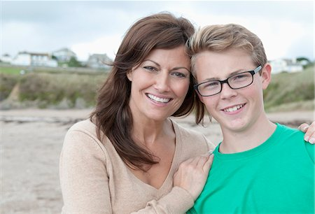 Portrait of mother and teenage son Stock Photo - Premium Royalty-Free, Code: 649-07436686
