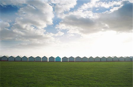 repeating - Row of coastal beach huts, Sussex, United Kingdom Stock Photo - Premium Royalty-Free, Code: 649-07437119