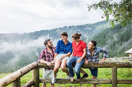 friendship - Portrait of four friends, Tyrol Austria Stock Photo - Premium Royalty-Free, Code: 649-07437125