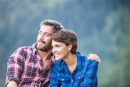 Portrait of young couple, Tyrol Austria Stock Photo - Premium Royalty-Free, Code: 649-07437136