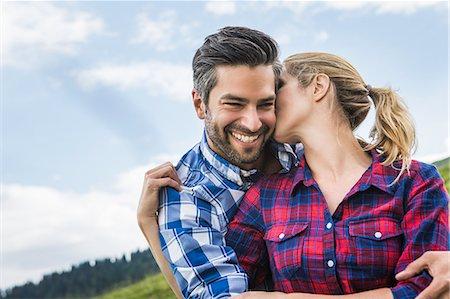 partnership - Couple hugging and kissing Stock Photo - Premium Royalty-Free, Code: 649-07437334