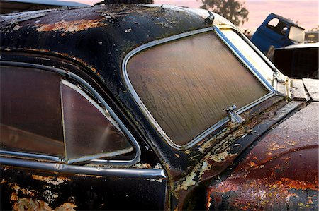 Close up of vintage car in scrap yard Stock Photo - Premium Royalty-Free, Code: 649-07437393