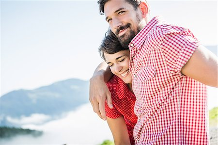 people and vacation - Portrait of young couple, Tyrol, Austria Stock Photo - Premium Royalty-Free, Code: 649-07437519