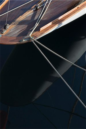 Rigging on classic sailing yacht Stock Photo - Premium Royalty-Free, Code: 649-07437511