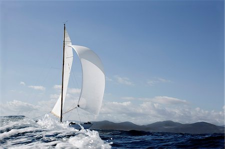 Classic sailing yacht Stock Photo - Premium Royalty-Free, Code: 649-07437513
