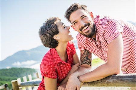 Happy young couple, Tyrol, Austria Stock Photo - Premium Royalty-Free, Code: 649-07437520