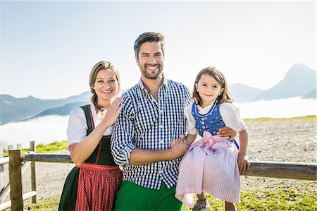 Portrait of parents and daughter, Tyrol, Austria Stock Photo - Premium Royalty-Free, Code: 649-07437533