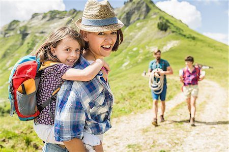 female hiking - Mother and daughter hiking, Tyrol, Austria Stock Photo - Premium Royalty-Free, Code: 649-07437583