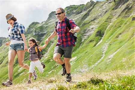 female hiking - Parents with daughter hiking, Tyrol, Austria Stock Photo - Premium Royalty-Free, Code: 649-07437609