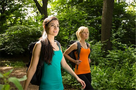 Women out walking in forest Stock Photo - Premium Royalty-Free, Code: 649-07438068