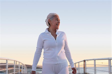 senior lady walking - Mature woman on walking exercise Stock Photo - Premium Royalty-Free, Code: 649-07520136
