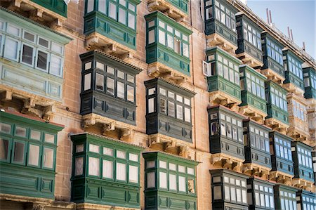 residential - Typical balconies, Valletta, Malta Stock Photo - Premium Royalty-Free, Code: 649-07520130
